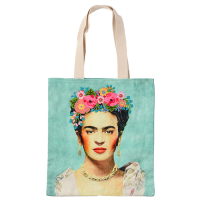 Frida Canvas Bag - Gold Necklace - Multicolour
