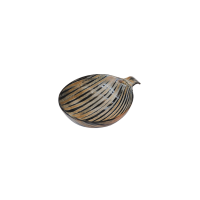 Horn Bowl - Striped - Small - Brown / Black