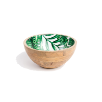 Palm Frond Salad Bowl - Small - Green
