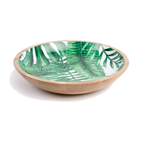 Palm Frond Salad Bowl - Medium - Green