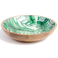 Palm Frond Salad Bowl - Large - Green