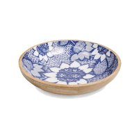 Sunflower Salad Bowl - Medium - Blue / White