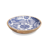 Sunflower Salad Bowl - Large - Blue / White