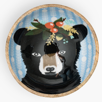 Bear with Garland Bowl - Multicolour