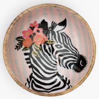 Zebra with Garland Bowl - Multicolour
