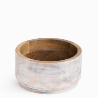 Circles  Bowl - Small - Whitewashed