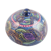 Papier Mache Powder Box - Large - Blue Multi