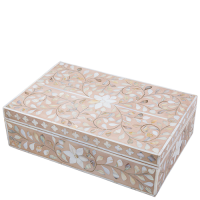 MOP Inlay Box - Floral - Pale Pink