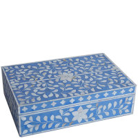 MOP Inlay Box - Floral - Lavender