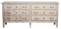 Timber 6-Drawer Scalloped Chest - Natural