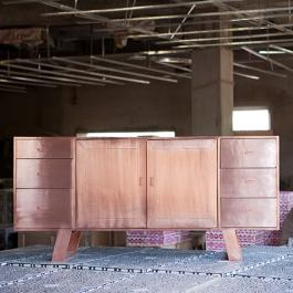Copper 6-Drawer Sideboard - Copper
