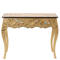 Chinoiserie Console - Bird - Gold Leaf Multi