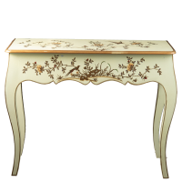 Chinoiserie Console - Golden Bird - Mint / Gold