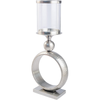 Circle Hurricane Lamp - Large - Pewter