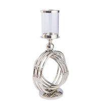 Orb Hurricane Lamp - Small - Silver