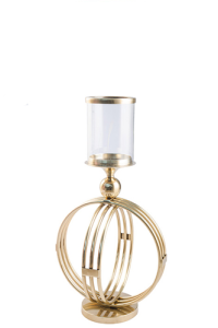 Orb Hurricane Lamp - Small - Gold