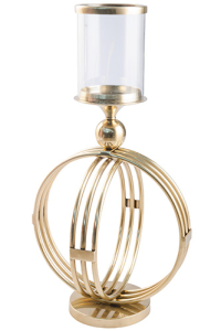 Orb Hurricane Lamp - Large - Gold