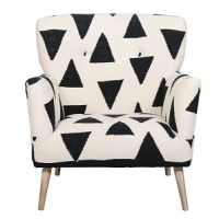 Butterfly Chair - Triangle Bridal Rug - Black / White