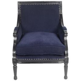 Lincoln Armchair - Navy Blue