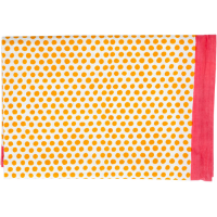 Polka Dot Tablecloth - Small - Yellow / Coral