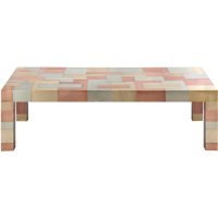 Anatole Check Coffee Table - Silver / Brass / Copper