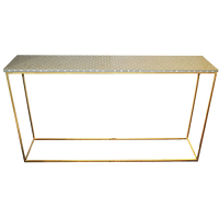 Miami Mother of Pearl Polka Dot Console - Beige / White