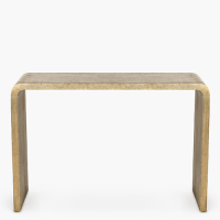 Antwerp Brass Veneer Console - Antique Brass