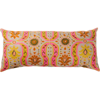 Bukhara Cushion - Hot Pink / Mehndi