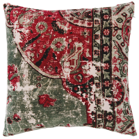 Velvet Cushion - Vintage - Sage Green Multi