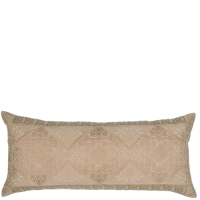 Phulkari Embroidered Cushion - Taupe