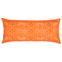 Phulkari Embroidered Cushion - Orange
