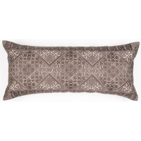 Phulkari Embroidered Cushion - Charcoal