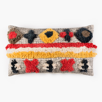 Tufted Stripe Khadi Cushion - Multicolour