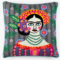 Frida Encore Cushion - Leaves - Multicolour