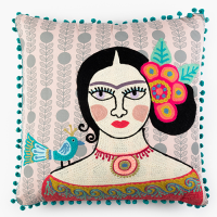 Frida Encore Cushion - Blue Bird - Multicolour