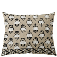 Bouti Embroidered Cushion - Black / White