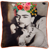 Frida Canvas Cushion - Evening Dress - Multicolour