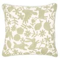 Animalitos Cushion - Sage Green