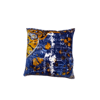 Velvet Vintage Cushion - Royal Blue / Multi