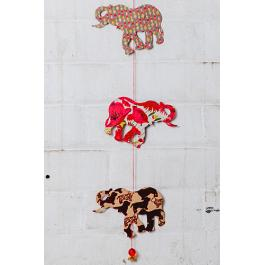 Elephant Garland - Red Multi