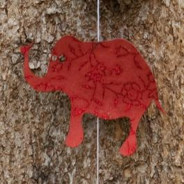 Elephant Garland - Red