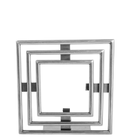 Art Deco Photo Frame - Small - Pewter