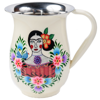 Frida Jug - Lilac Bird - White Multicolour