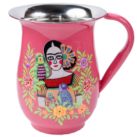 Frida Jug - Two Parrots - Fuchsia Multicolour