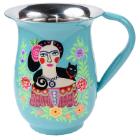 Frida Jug - Black Cat - Turquoise Multicolour