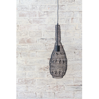 Crochet Lamp - Floral Bulb - Black
