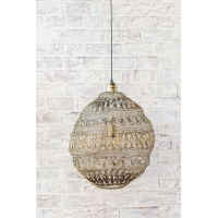 Crochet Lamp - Floral Ball - Matt Gold