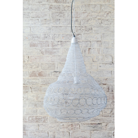 Crochet Lamp - Circle Bulb - White