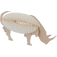 Concertina Lamp - Rhino - Natural / White