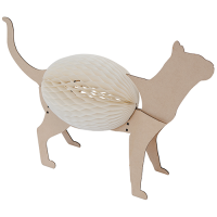 Concertina Lamp - Panther - Natural / White